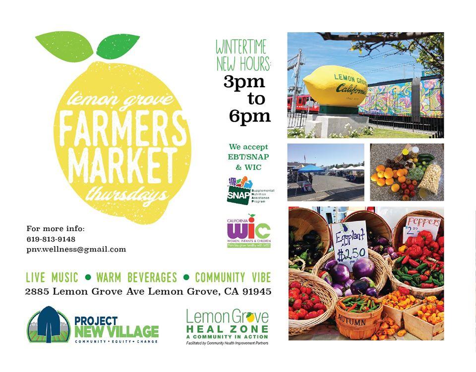 Lemon Grove Farmers Market @ Veteran's Foreign Wars (VFW) Parking Lot | San Diego | California | United States
