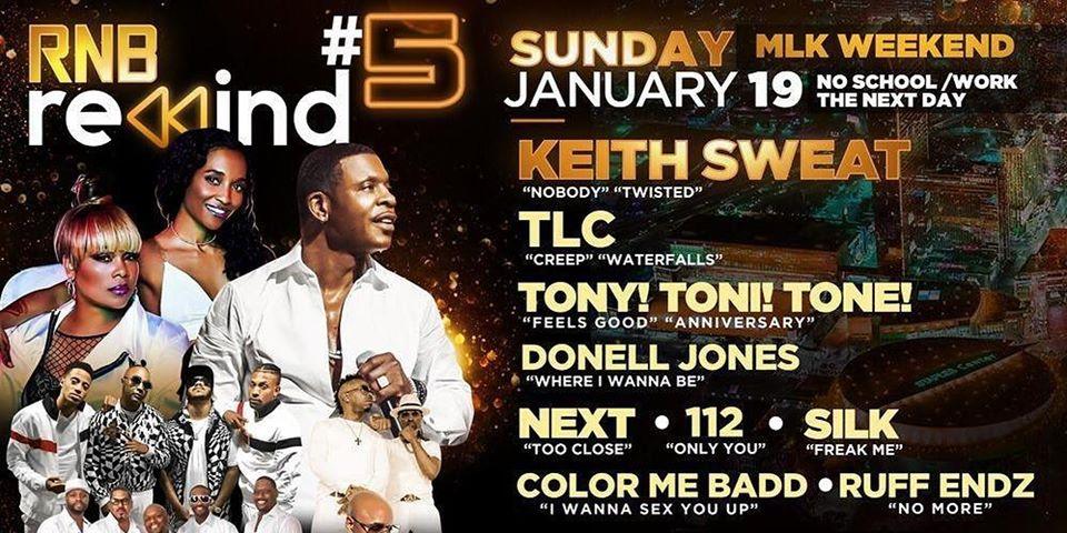 Keith Sweat, TLC, Next, 112, Silk, Donell Jones & more @ Microsoft Theater