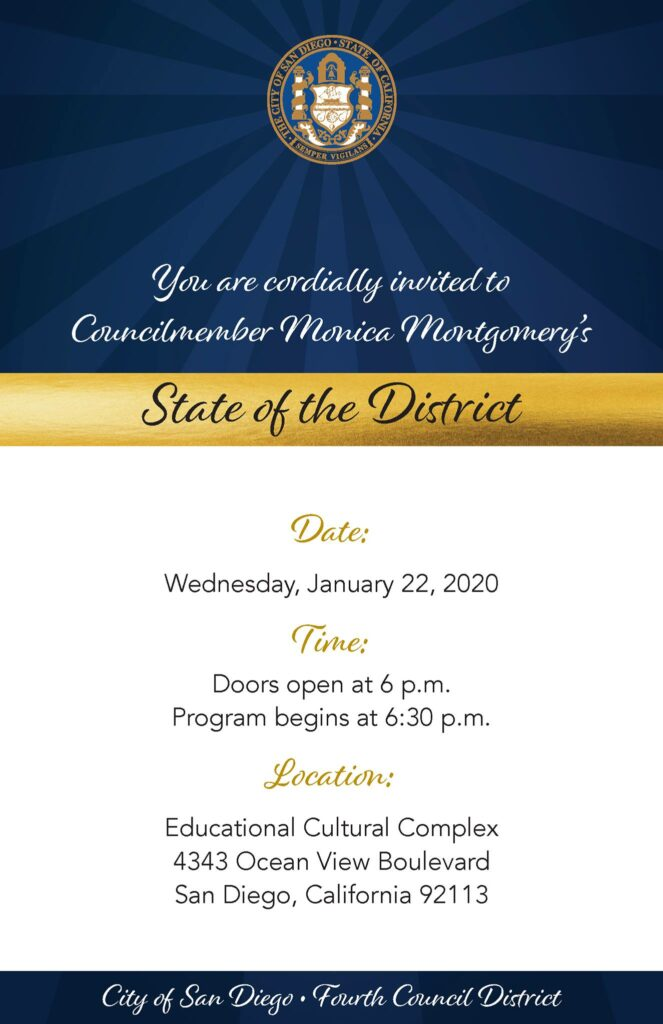Councilmember Monica Montgomery: State of the District @ Educational Cultural Complex